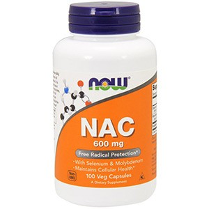 Now Foods, NAC (N-ацетил-цистеин) Селен и молибден, 600 мг