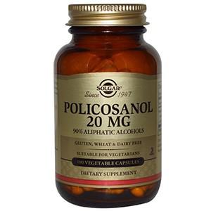 Solgar, Поликосанол, 20 мг, 100 вегетарианских капсул