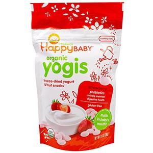 Nurture Inc. (Happy Baby), Органик Yogis, Йогуртово-фруктовые снэки со вкусом клубники