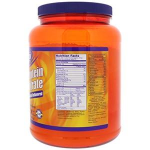 Now Foods, Sports, Концентрированный сывороточный протеин, натуральный без вкусовых добавок