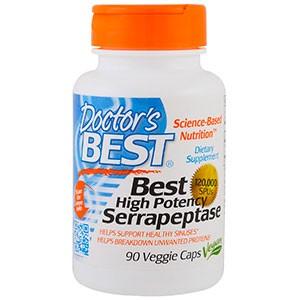 Doctor's Best, Высокоэффективная серрапептаза, 120000 SPU