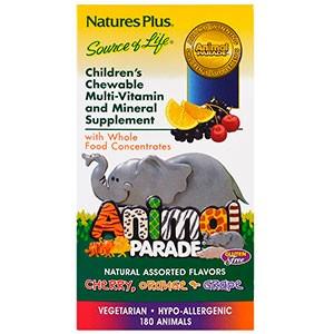 Nature's Plus, Жевательные таблетки для детей с мультивитаминами в форме животных