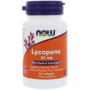Now Foods, Ликопин, 20 мг