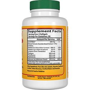 Healthy Origins, Lyc-O-Mato ликопин + селен Excell