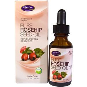 Life Flo Health, Чистое масло семян шиповника, уход за кожей