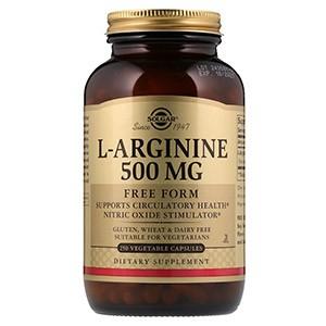 Solgar, L-аргинин, 500 мг