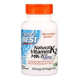 Doctor's Best, MK-7 с натуральным витамином К2 MenaQ7