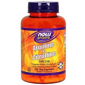 Now Foods, Для спорта, аргинин и цитруллин