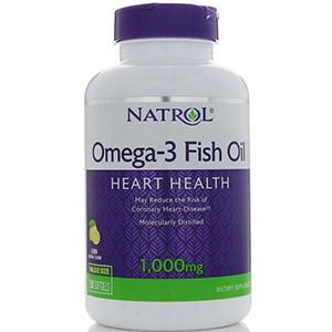 Natrol, Рыбий жир Омега-3, натуральный лимонный вкус