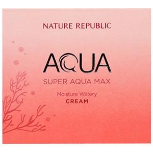 Nature Republic, Аква, Супер Аква Макс, увлажняющий бесцветный крем