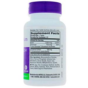 Natrol, Корица, хром и биотин