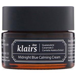 Dear, Klairs, Успокаивающий голубой крем Midnight Blue